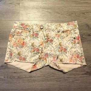 PAIGE Denim Floral Shorts Size 24